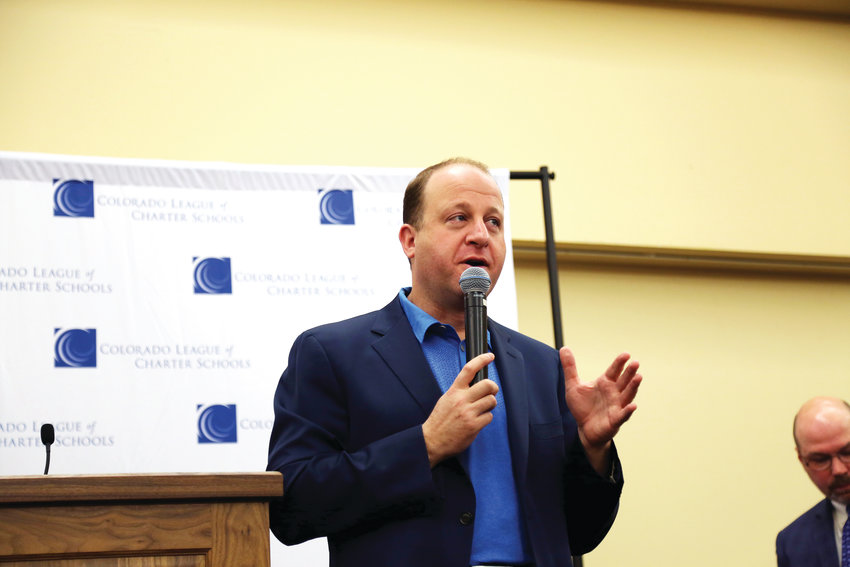 Jared Polis talks about the need to fund full-day kindergarten and use evidence-based research to reach students of different learning styles during a discussion with the Colorado League of Charter Schools.
