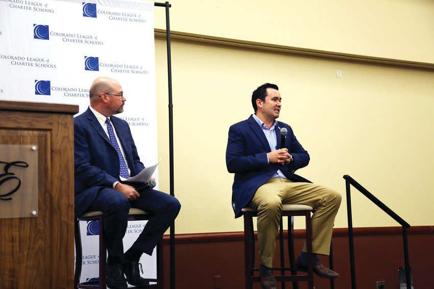 Walker Stapleton talks his education plan and being opposed to Amendment 73 at the Colorado League of Charter Schools leadership summit.