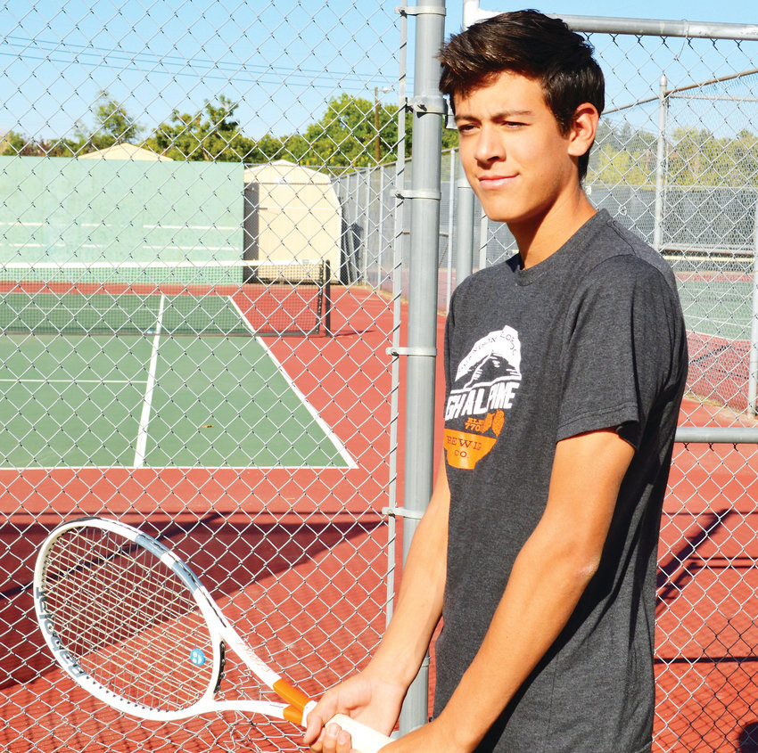 Littleton senior tennis player Ethan Montoya who is playing doubles this season with his younger brother Ollie.