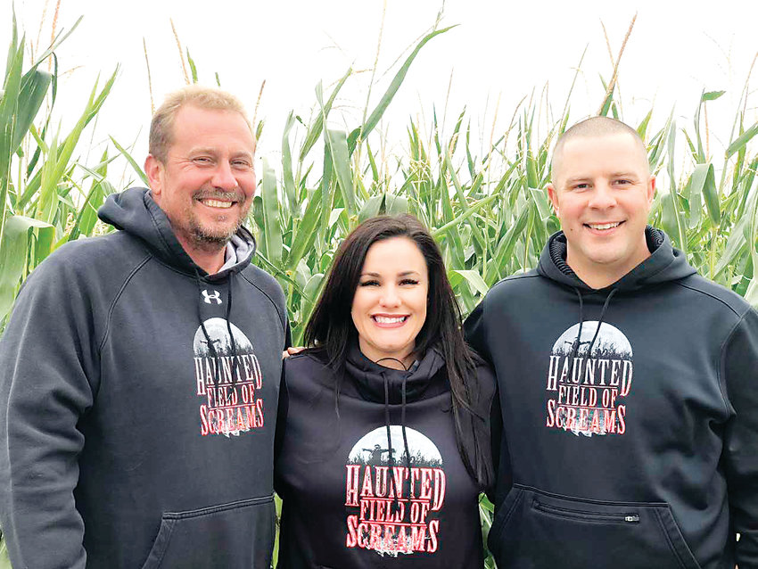 Mark Villano, Gina Palombo-Dinkel and Joe Palombo started the Haunted Field of Screams in 2001 as a corn maze before turning it into a haunt.