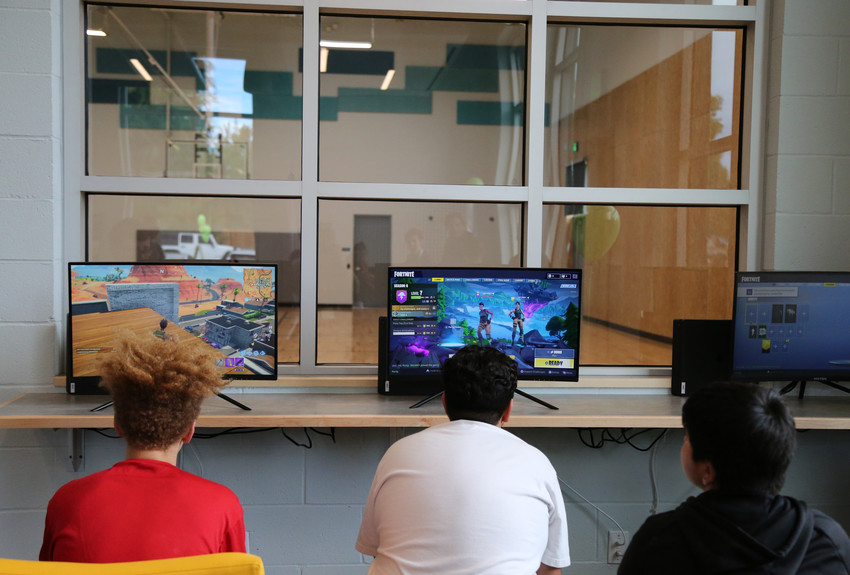 The teen center includes a gaming center.