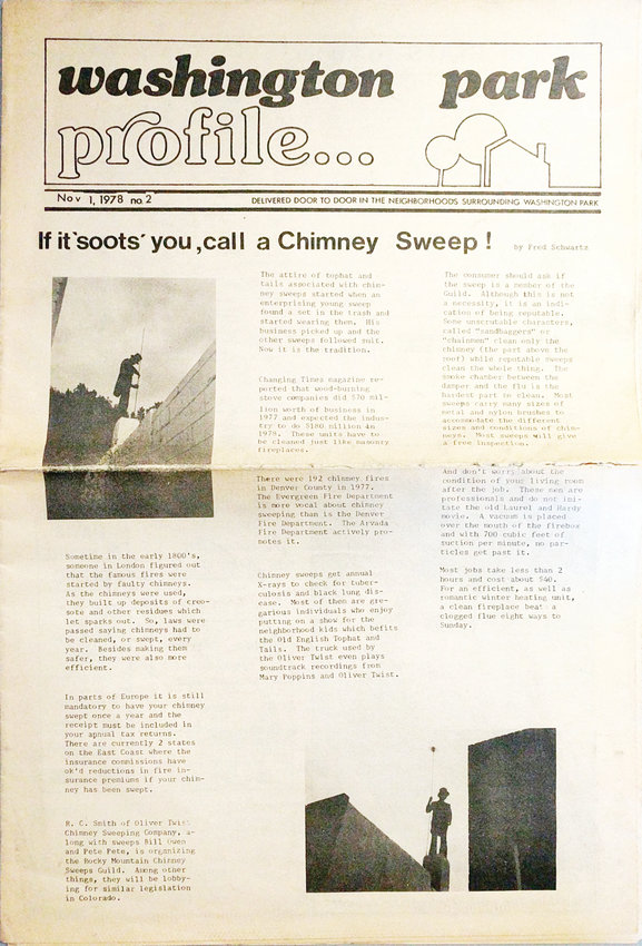 In its first three months, the Profile included columns on health and gardening as well as a selection of local stories, like this one about chimney sweeps.