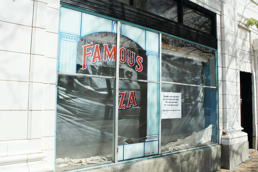 Famous Pizza had been operating at 98 S. Broadway for more than 40 years. The restaurant closed at the end of August and hung a sign in the window thanking people for their business.