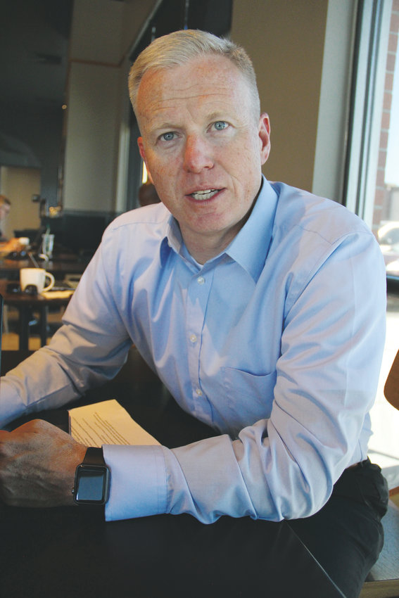 George Brauchler, Republican candidate for state attorney general, sits at a Starbucks in Centennial Sept. 17. Brauchler is the district attorney for Colorado's 18th Judicial District, including Arapahoe, Douglas, Elbert and Lincoln counties.