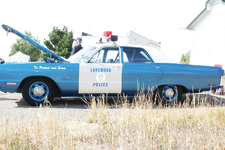 A vintage Lakewood Police vehicle.