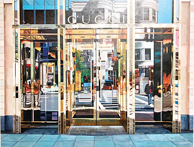 """Gucci, Boston #1"" by hyper realist painter Rob Gratiot won Best of Show at the 2018 Lone Tree Art Expo, which runs through Nov. 26 at Lone Tree Arts Center."