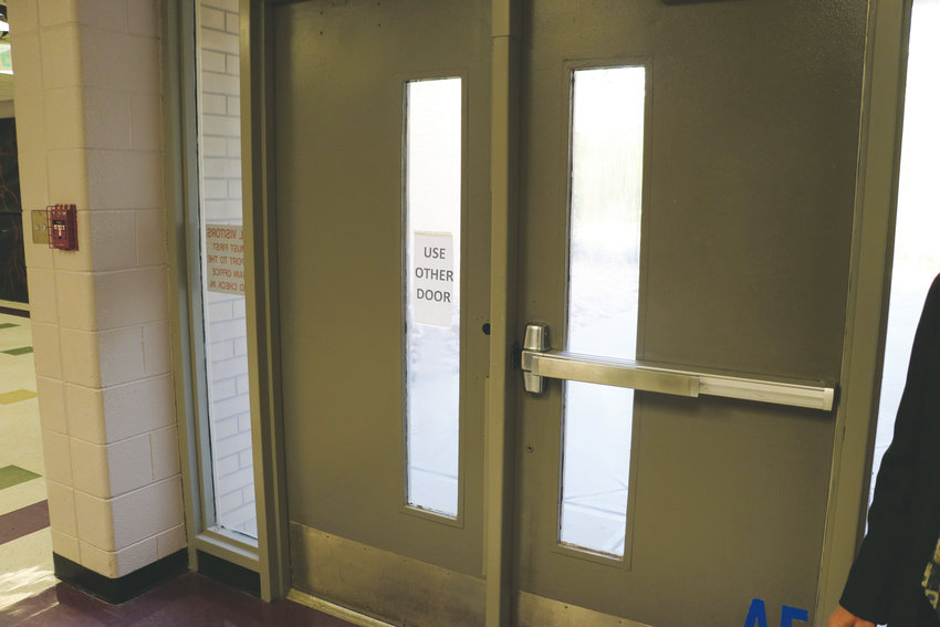 One of Douglas County High School's Tier 1 needs is a broken door, which costs about $700 to repair, according to district staff. The repair is considered urgent because it impacts the safety and security of the building.