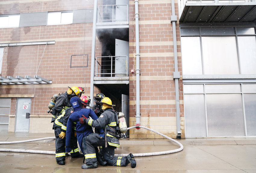 The West Metro Fire Rescue Academy is held on an as needed basis with recruits from throughout the metro area.