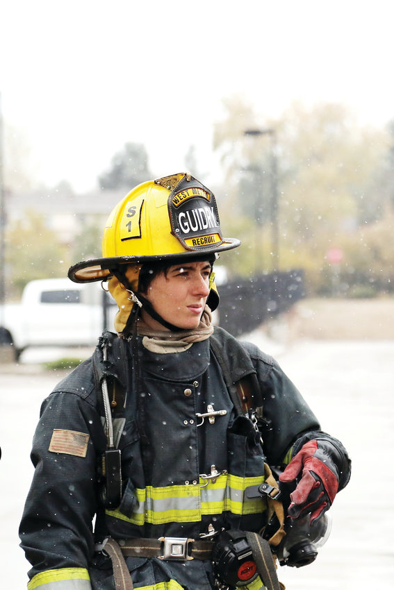 Elise Guidry, 27, is one of three Arvada Fire recruits currently training at the West Metro Fire Rescue Academy.