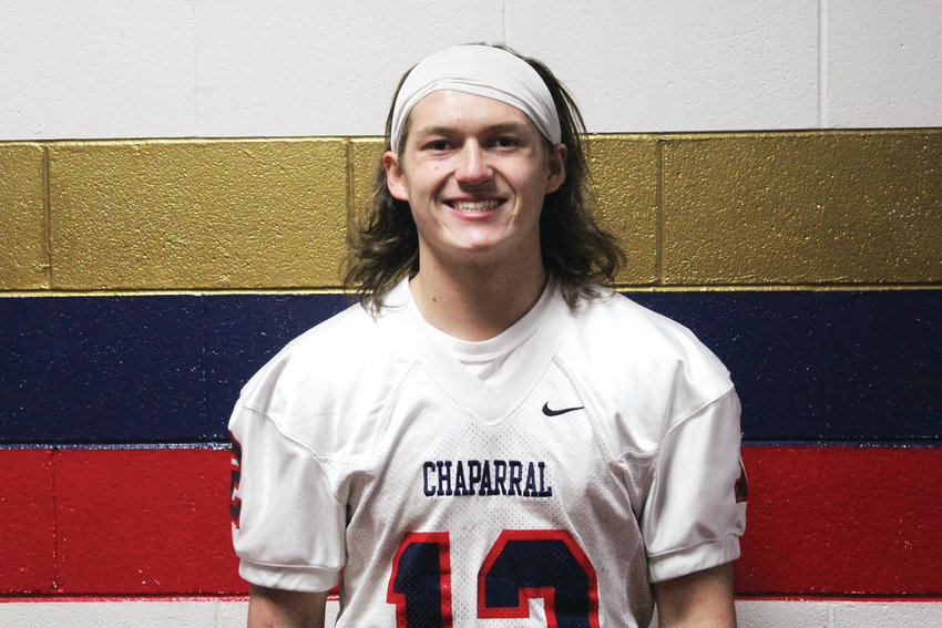 Dylan Smithwick is a senior running back for the Chaparral High School football team. At 5-foot-8, 170 pounds, Smithwick is the Wolverines' leading rusher with 558 yards and four touchdowns.