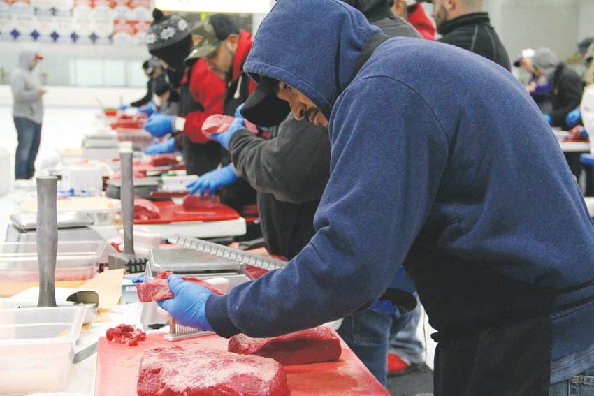 Meat cutters from Texas Roadhouse locations in Colorado, New Mexico, South Dakota and Wyoming compete in the Oct. 8 qualifier for the 2018 Meat Cutting Challenge. The event for Texas Roadhouse meat cutters was hosted at the South Suburban Ice Arena in Centennial.