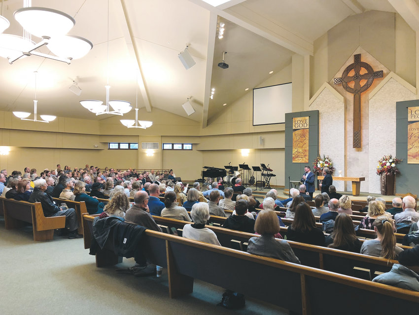 Dr. Bashar Shala, co-founder of the Memphis Islamic Center in Memphis, Tennessee, and Dr. Steven Stone, senior pastor of Heartstrong Church, also in Memphis, speak to New Hope Presbyterian Church in Castle Rock. Their message is about understanding the two faiths and building friendships across them.