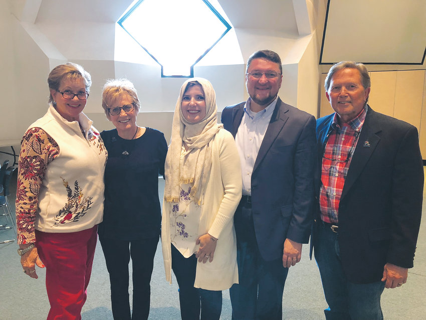 From left, Mary Stone and Joy Myers-Barklage, of New Hope Presbyterian Church, Malak Shala and her husband Dr. Bashar Shala, and Dr. Steven Stone talked about the importance of interfaith friendships.