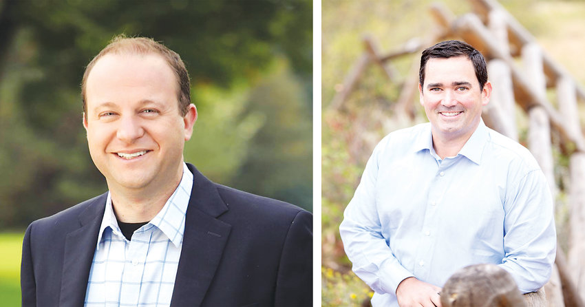 Candidates for governor of Colorado, Jared Polis, left, and Walker Stapleton.