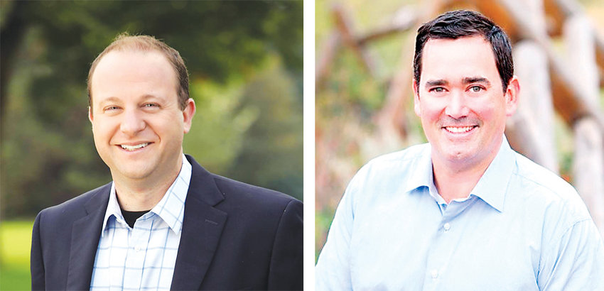 Colorado Gubernatorial candidates Jared Polis, left, and Walker Stapleton.