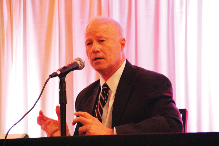 Republican U.S. Rep. Mike Coffman speaks Oct. 17 at a candidates' forum hosted by the Aurora Chamber of Commerce and the Aurora Association of Realtors at the Radisson Hotel in Aurora.