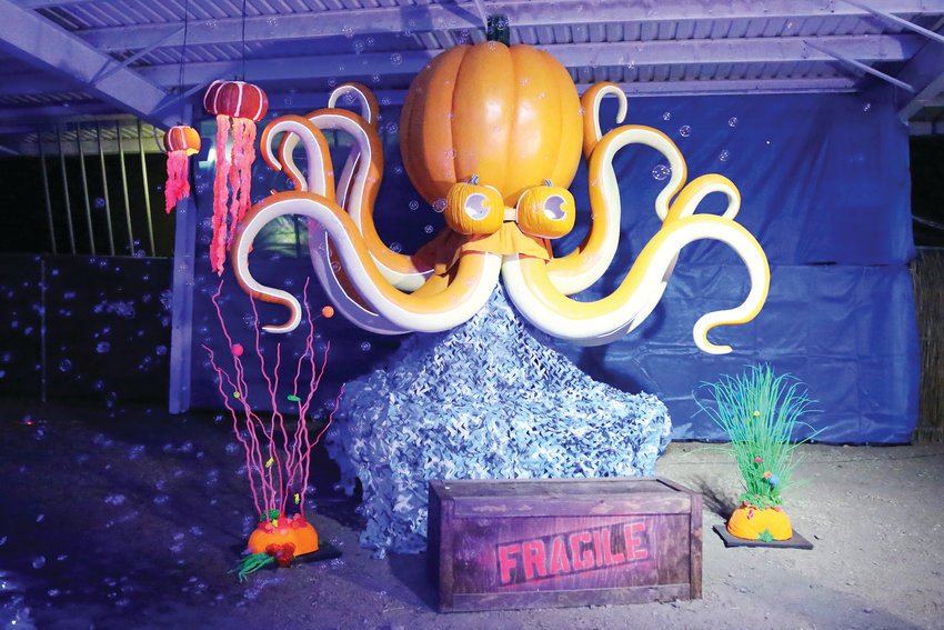 Pumpkin Nights featured fantastical lands, built using over 3,000 hand-carved pumpkins and funkins.