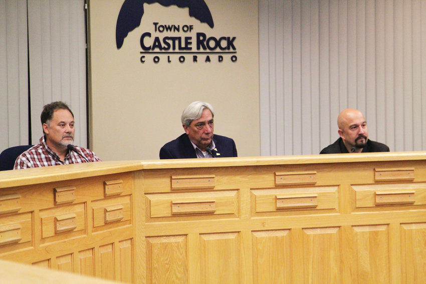 Jason Gray, Randy Reed and Charles Fletcher sat for a forum in Castle Rock on Oct. 18 as the three strive to become the town's next mayor.