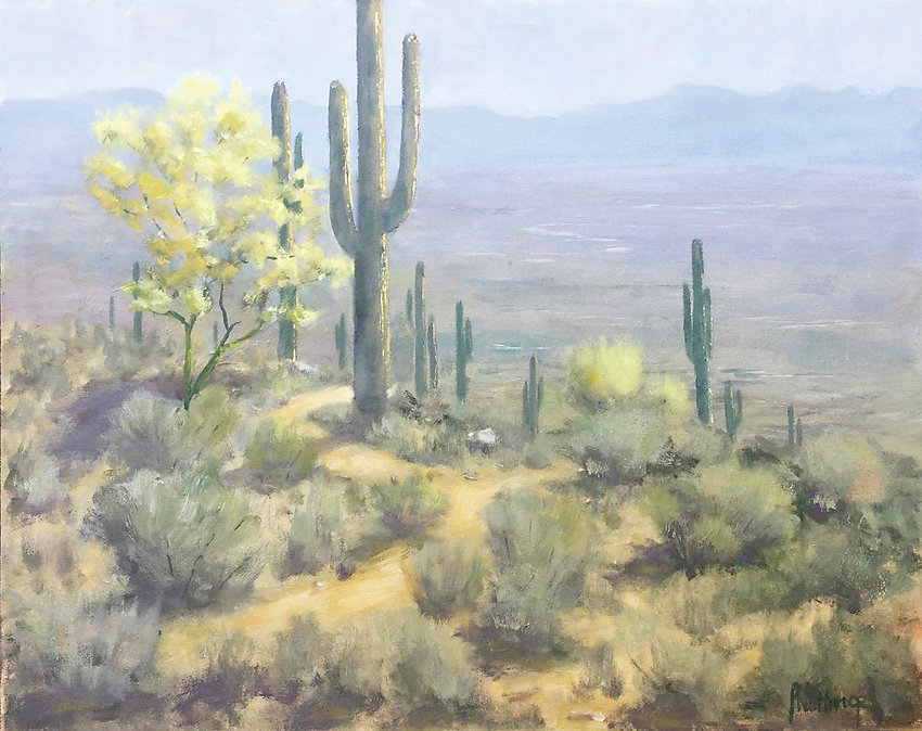 """Paloverde in Bloom"" by Paul Nutting is Best in Show in the new ""Spice of Life"" exhibit at the Depot Art Gallery."