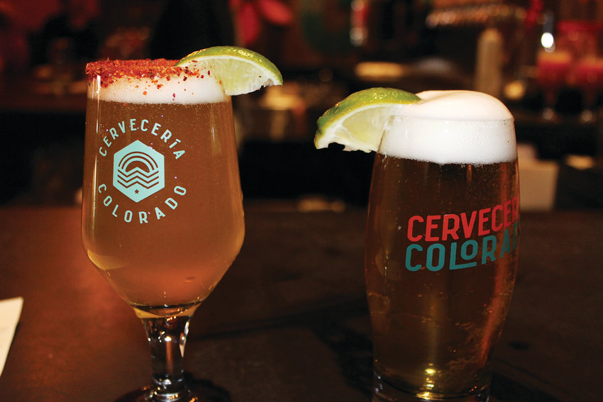 From left, Cerveceria Colorado's Senor Pina and Venga beers.