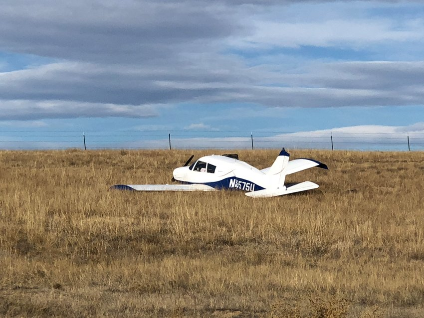 No one was injured after this small plane made a rough landing in a field in Lone Tree the morning of Oct. 26.
