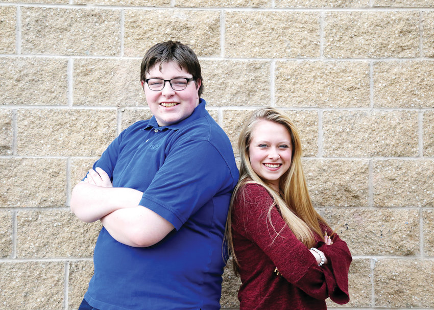 Benjamin Saprano and Abbie Traynor are student directors for this year's one-act plays at Pomona High School.
