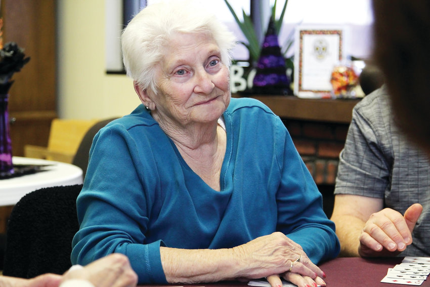 Sandy Richardson goes to the Castle Rock Senior Activity Center two to three times a week. On Oct. 29 she joined a room full of people to play cards. The center offers a place to see friends and socialize, she said.