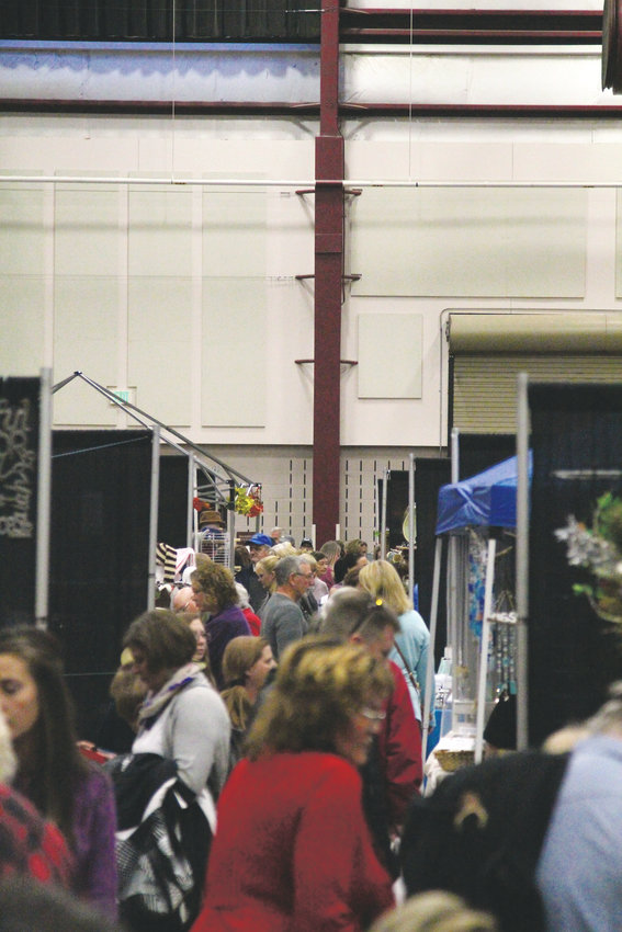 Aisles were crowded and the parking lot packed at the Douglas County Events Center.