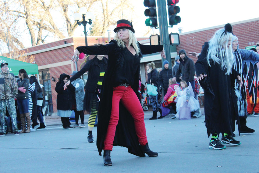 "The Parker Senior Center broke out in dance in the middle of Mainstreet Oct. 31 for a spooky version of Michael Jackson's ""Thriller"" dance during the Trick-or-Treat on Mainstreet event in downtown Parker."