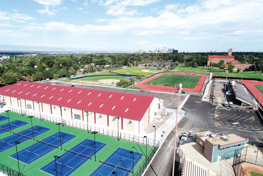 Construction on the Denver Tennis Park near Washington Park is completed. The park will open this month and is run by a nonprofit organization that aims to teach kids how to play tennis.
