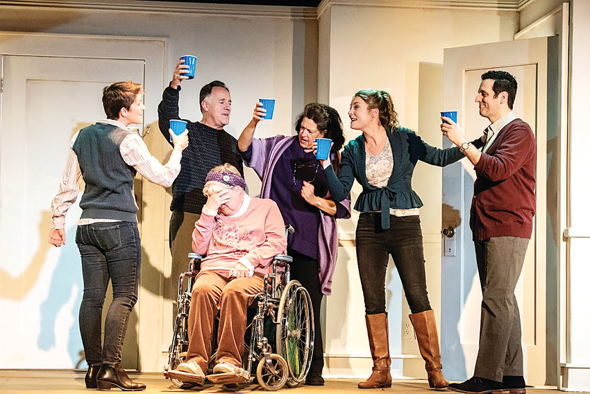"A family toast at Thanksgiving unites the Blake family who gather together in ""The Humans"" at Curious Theatre."