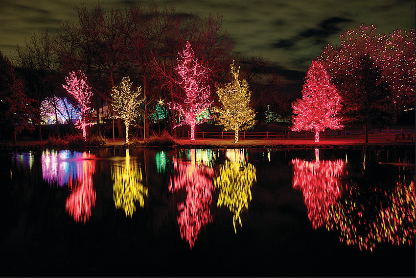 "Thousands of colored lights will invite a visitor to ""A Hudson Christmas"" at Hudson Gardens in Littleton."