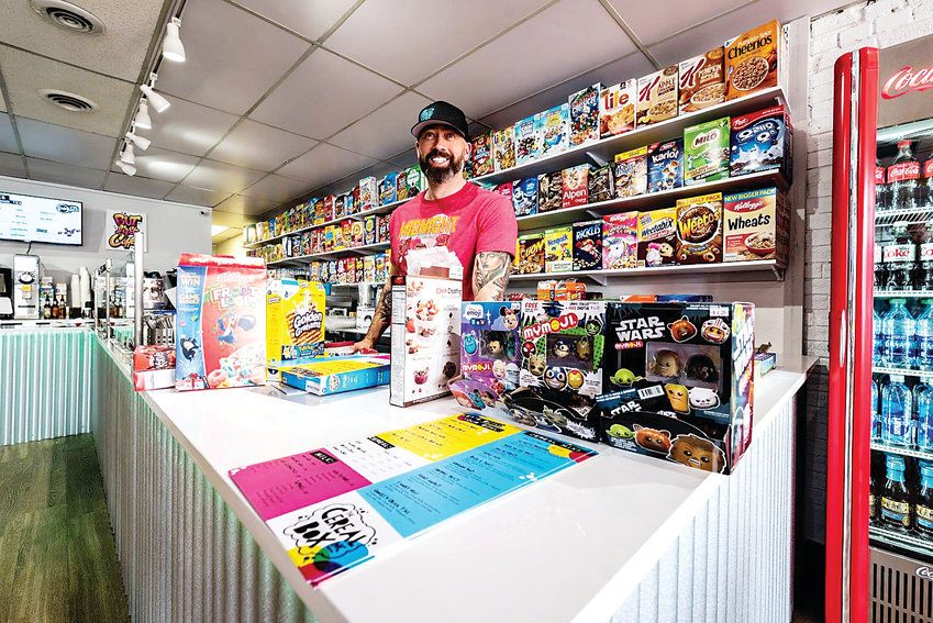 Michael Emmerson, owner of The Cereal Box, in Olde Town Arvada, said the first year was difficult, but they are happy to be connecting with the community.