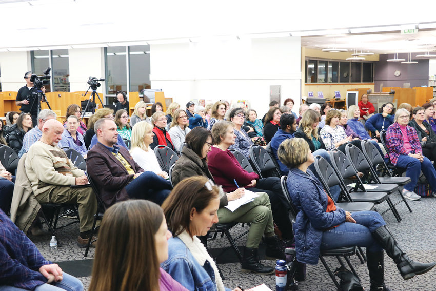 About 50 community members attend the second Time to Talk community forum on Nov. 14 at James H. LaRue library in Highlands Ranch.