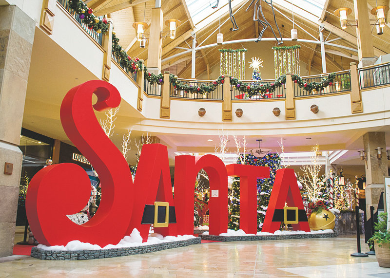 Park Meadows mall has been gearing up for the holiday shopping season. Its elaborate decorations and displays will be topped off with a 3-D light display on the outside of the mall and an interactive Santa display.