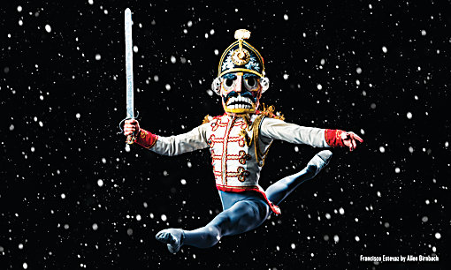 Colorado Ballet dancer Francisco Estevez as the Nutcracker.