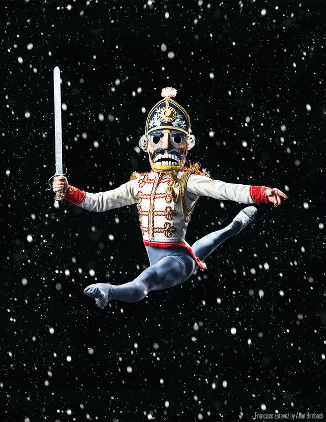 "Colorado Ballet's Francisco Estevez performs as the Nutcracker Prince in the company's popular production of ""The Nutcracker."""