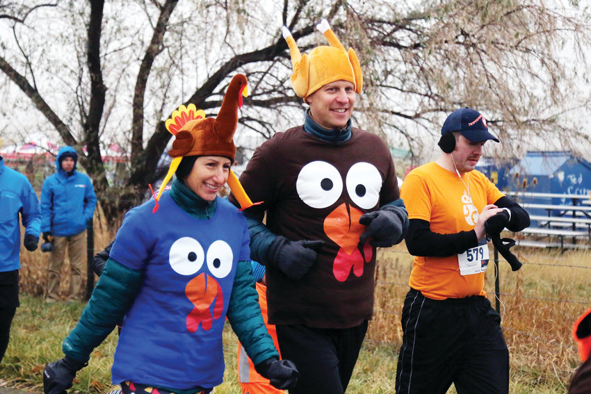 Michele and Robert Martin, of Highlands Ranch, got festive to run the 5K Turkey Trot in Arvada Nov. 17.