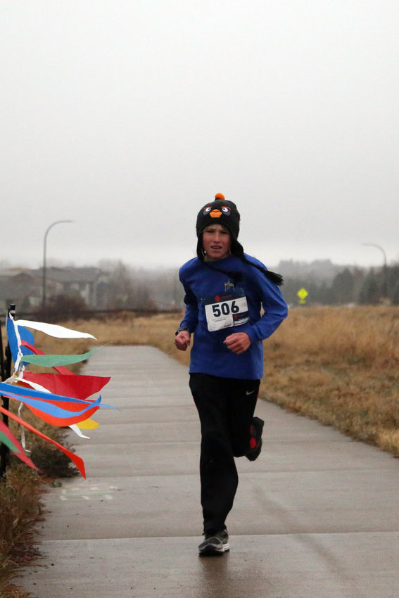 Scott Figurski, 13, plaed seventh overall in the Turkey Trek 5K with a time of 22:25.9.