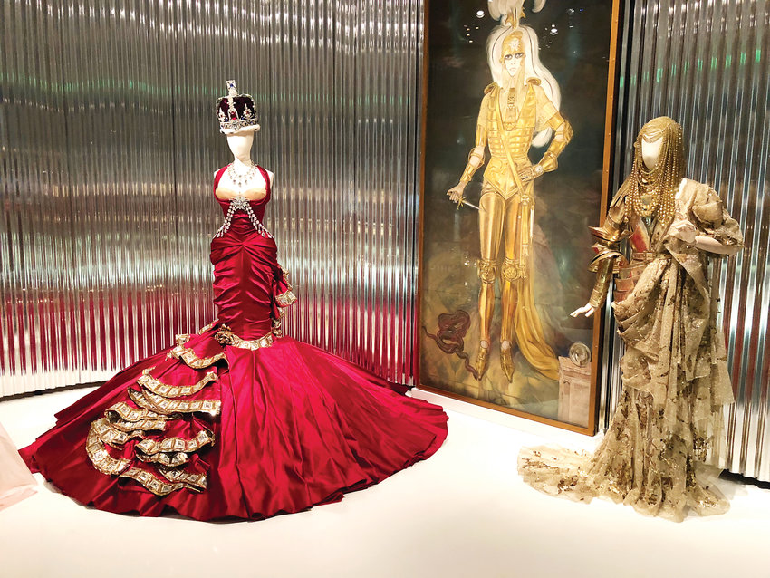This red satin dress was designed by John Galliano for the Haute Couture Fall-Winter 2004 collection in Paris. Galliano was the fifth creative director of Dior, where he worked from 1997 through 2011.