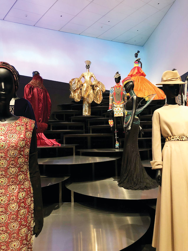 The House of Dior has drawn international inspiration in its designs, a point highlighted in the final showroom of the Dior: From Paris to the World exhibit.