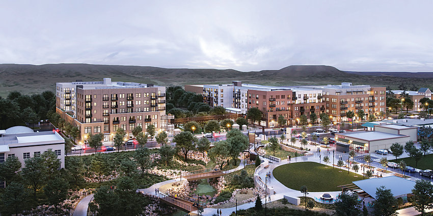 The Riverwalk in downtown Castle Rock should open its first building in March and the second in May, bringing hundreds of people to live and work in the district.