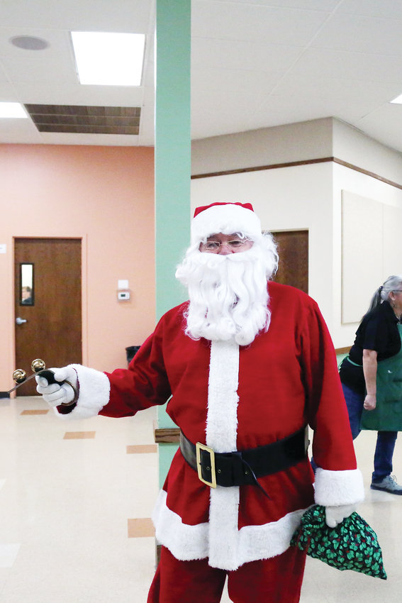 Santa was a special guest at the Dec. 1 pancake breakfast.
