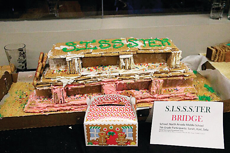 "While Sela Guajardo, 13, a student at North Arvada Middle School, and her two teammates' bridge would have collapsed during testing at the 2018 Denver Gingerbread Bridge Competition, ""it was definitely the best tasting of all of them,"" Guajardo said."