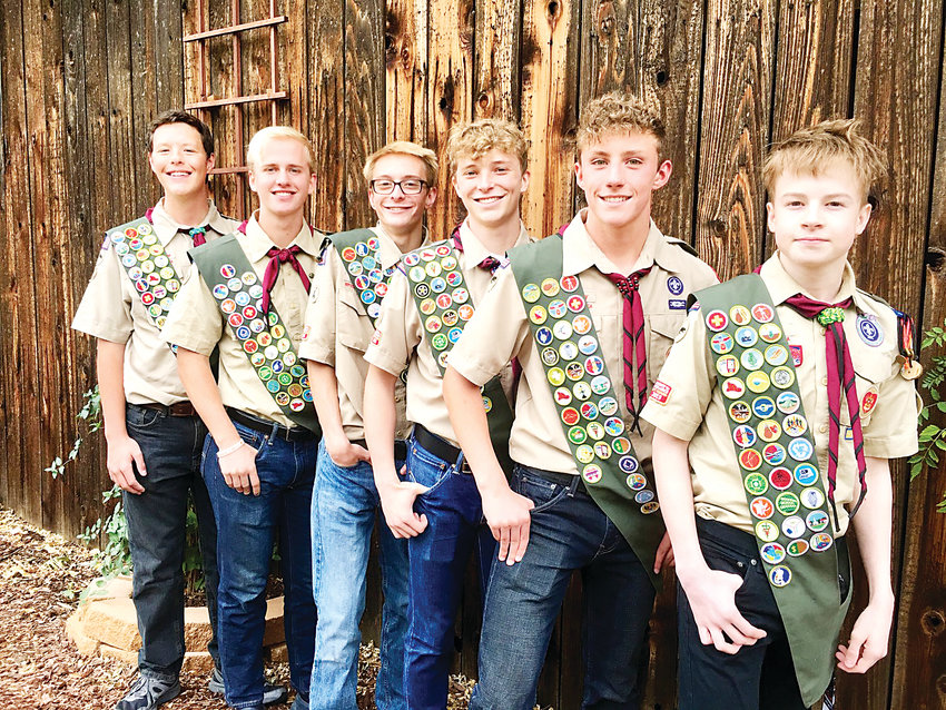 Six scouts from Troop 613 earned their Eagle ranking.