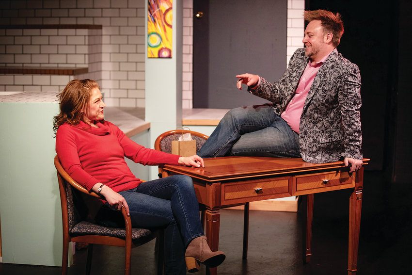 "Maggie Stacy plays Stacy and Steven Burge is Adam in ""What You Will,"" playing at Benchmark Theatre."