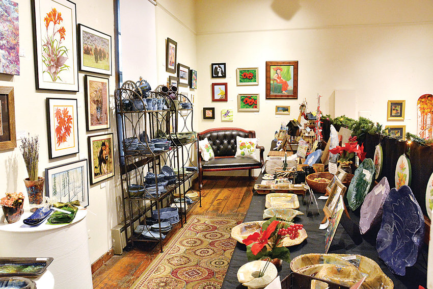 The Depot Art Gallery displays ceramics, paintings, fused glass and other original arts and fine crafts at the Holiday Art and Gift Market, through December.