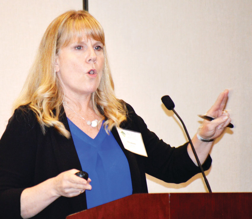 Colorado State Demographer Elizabeth Garner told Adams County officials and business owners to expect the state to continue growing, but more slowly, in 2019. She spoke at a luncheon sponsored by Adams County Economic Development Dec. 6 in Westminster.