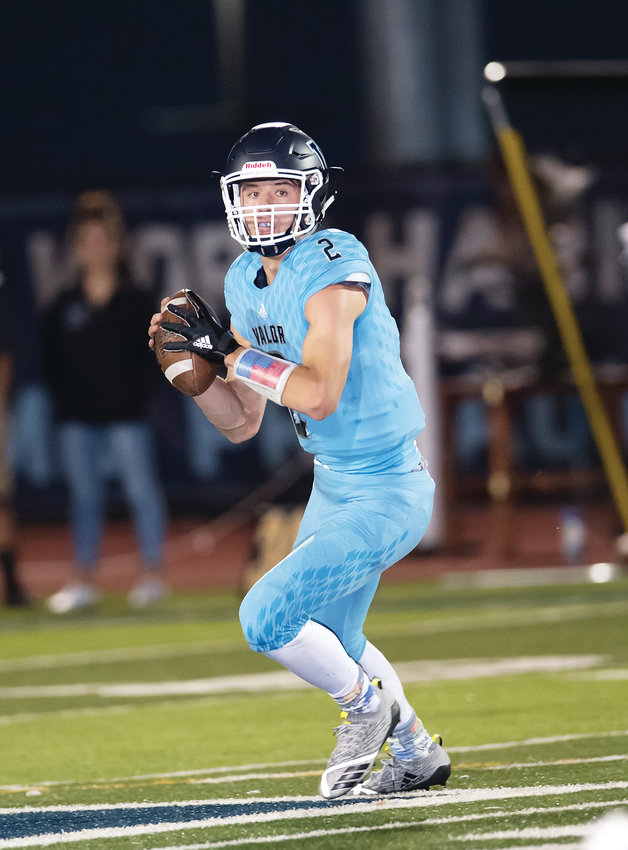 Valor Christian's Luke McCaffrey  passed for 2,202 yards and 21 touchdowns this past season.