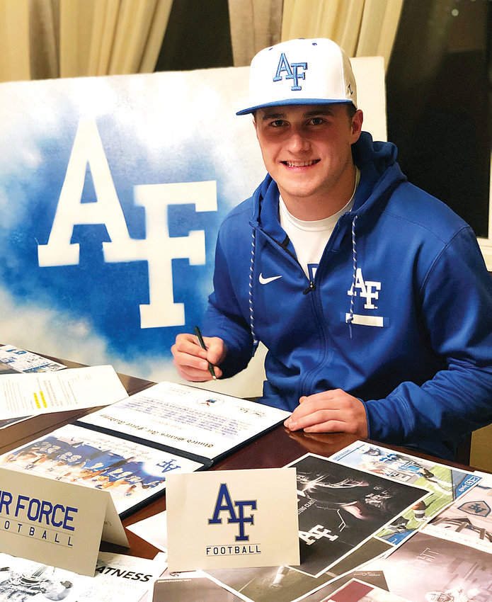 Ralston Valley senior Brad Roberts signed his National Letter of Intent on Dec. 19. Roberts will attend the Air Force Academy.